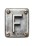 Old Metal Alphabet Letter F Poster von  donatas1205