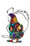 Funky Chicken Illustration Prints by  onesmallsquare