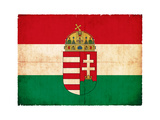 Grunge Flag Of Hungary Posters by  cmfotoworks