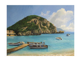 The Boats Of Paleokastritsa Prints by  kirilstanchev