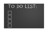 To Do List On Chalkboard Poster by  IJdema