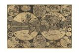 High-Quality Antique Map Kunst af  megastocker