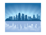 Kansas City, Missouri Skyline Print by  Yurkaimmortal