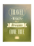 Travel Typographic Vintage Design Prints by  MiloArt