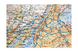 Map Of Nyc And Suburbs Prints by  Filaphoto