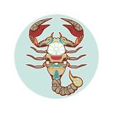 Zodiac Signs - Scorpio Print by  krasstin