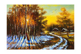 Rural Winter Landscape Prints by  balaikin2009