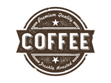 Vintage Fresh Coffee Label Stamp Prints by  daveh900