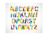 Colorful Ribbon Alphabet Prints by kakin mah