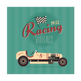 Vintage Sport Racing Cars Posters by vector pro