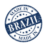 Made In Brazil Blue Stamp Posters by  aquir
