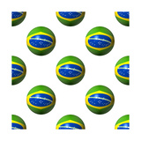 Seamless Brazilian Flag Spheres Art by  fintastique