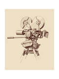 Vintage Old Movie Camera Prints by  VladisChern
