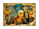 Ancient Egyptian Parchment Kunstdrucke von  Maugli-l
