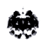 Rorschach Test Of An Ink Blot Card Art by  kentoh