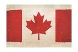 Canada Flag On Canvas Prints by  duallogic