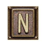 Metal Button Alphabet Letter N Posters by  donatas1205