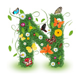 "Beautiful Spring Letter ""N"" Prints by  Kesu01"