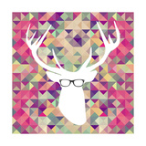 Retro Hipsters Elements Prints by  cienpies
