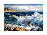 Storm Waves On Seacoast Prints by  balaikin2009