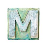 Wooden Alphabet Block, Letter M Reproduction giclée Premium par  donatas1205