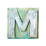 Wooden Alphabet Block, Letter M Poster by  donatas1205