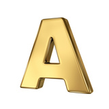 Letter A From Gold Solid Alphabet Posters by  smaglov