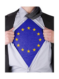 Business Man With Eu Flag T-Shirt Posters by  IJdema