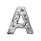 Metal Alloy Alphabet Letter A Prints by  donatas1205