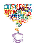Cute Vintage Coffee Social Concept Print by  cienpies