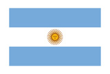 Flag Of Argentina With Sun Of May Prints by  mshch
