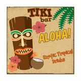 Tiki Bar Vintage Poster Poster af radubalint