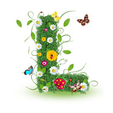 "Beautiful Spring Letter ""L"" Premium Giclee Print by  Kesu01"