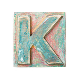 Wooden Alphabet Block, Letter K Posters by  donatas1205