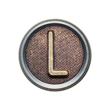 Metal Button Alphabet Letter Art by  donatas1205