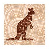 Aboriginal Abstract Art Plakat autor Piccola