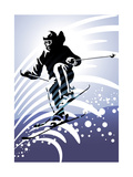 Sport Set: Downhill Skiing Prints by  UltraPop