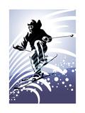 Sport Set: Downhill Skiing Lámina por UltraPop