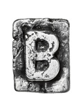 Metal Alloy Alphabet Letter B Prints by  donatas1205