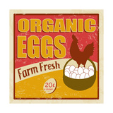 Organic Eggs Vintage Poster Posters by  radubalint