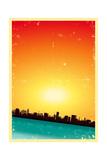 Summer Grunge Urban Landscape Poster by  Benchart