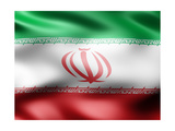 Iran Country Flag 3D Illustration Prints by  pling