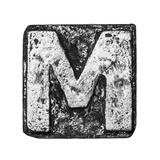 Metal Alloy Alphabet Letter M Posters by  donatas1205