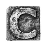 Metal Alloy Alphabet Letter C Art by  donatas1205