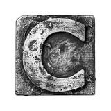 Metal Alloy Alphabet Letter C Art by  donatas1205