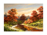 Autumn Landscape With The River Posters by  balaikin2009