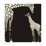 Inverse Giraffe Animal Camouflage Posters by  Gepard