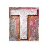 Wooden Alphabet Block, Letter T Reproduction giclée Premium par  donatas1205