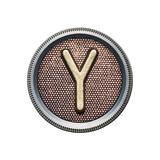 Metal Button Alphabet Letter Reproduction giclée Premium par  donatas1205