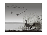 Wild Geese, Delayed Migrating Prints by  Gepard